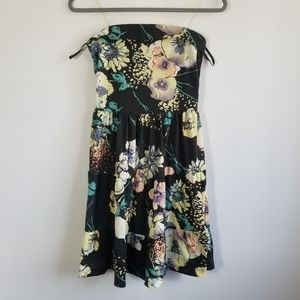 Charlotte Russe small floral strapless dress
